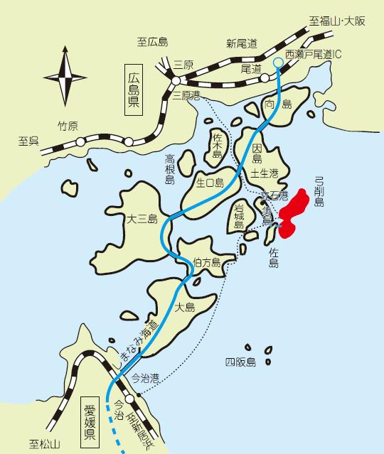 弓削島配置略図